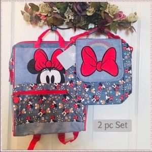 2/$40 Disney Minnie Mouse Backpack Lunchbox Set